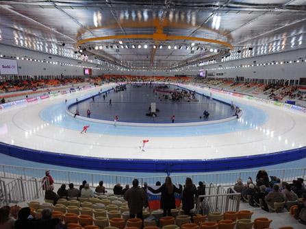 Speciaal plafond voor Olympische schaatshal Sotsji