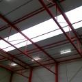 Dichtleggen lichtstraten met brandwerende schermen schermdoek