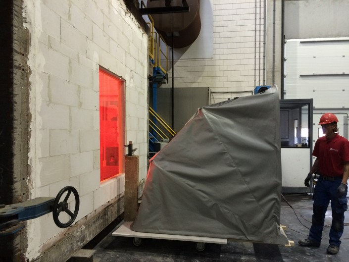 Hitteschild_60kW_M2,fire protection cover